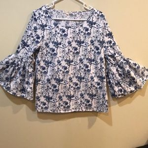 EUC!  Jane and Delancey Blouse with Bell Sleeves